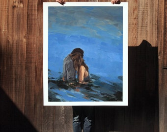 My Love .  extra large wall art . giclee print