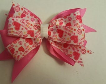 Happy Valentines Day boutique Hairbow