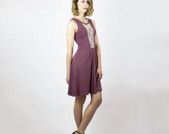 Blake Dress - Rose Brown Bamboo Boho dress - Summer festival sleeveless dress