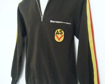 1970s ARGENTINIAN SOCCER JERSEY, Futbol Pullover Sweater, size s - m