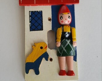Wood Painted Vintage Light Switch