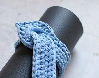 Yoga mat strap/mat sling / yoga mat carrier / vegan cotton / FREE SHIPPING / periwinkle / yoga bag / sustainable living / yoga studio