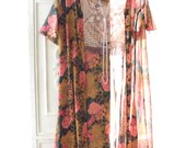 Coachella festival kimono, bohemian beach floral wrap kimono, Boho clothes, Hippie chic, Music festival Bohemian gypsy, True rebel clothing