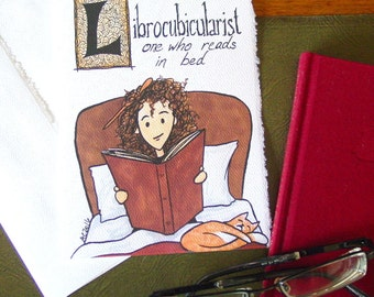 Librocubicularist Hermione Greeting Card featuring Word Art - Harry Potter - Reading