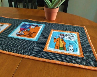 Crabby Maxine Quilted Table Runner