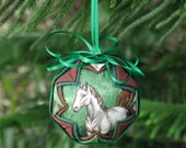 Quilted Horse Fabric Ornament Green Meadows 2 to Choose From