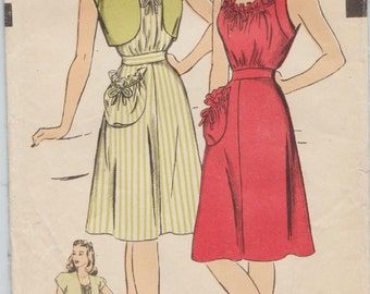 Hollywood 1623 / Vintage 1950s Sewing Pattern / Dress And Bolero jacket / Size 16 Bust 34