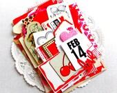 Valentine's Ephemera Pack / Valentine Paper Kit / 50+ Pieces / Vintage Ephemera / Daily Planner / Scrapbook / Junk Journal