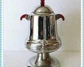 Vintage Tea or Coffee Urn, On Off Faucet, Red Bakelite Handles, Table Urn