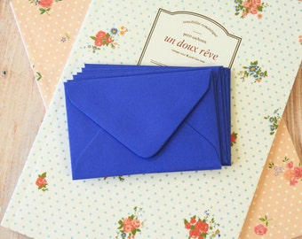 IRIS Blue Coloured Mini Envelopes & Note Cards 10pc set