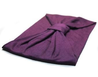 Turban Head Cover Purple Turband Gypsy Headband Wife Gift Biker Head Scarf Purple Turband Motorcycle Hair Band Turban Head Wrap (#1507) M