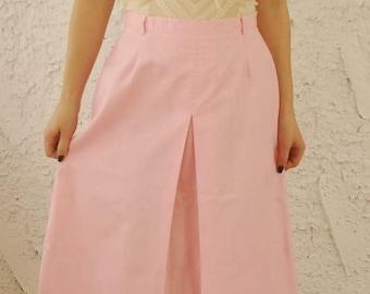 1950s Pink Soda Fountain Skirt - sz S/M