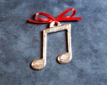 Eighth Notes (Double) Pewter Ornament