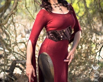 The Adjustable Velvet Waist Cincher in Chocolate Brown by Opal Moon Designs (Size S/M or L/XL)