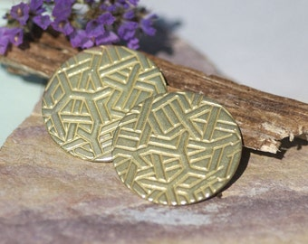 Brass Jewelry Disc 30mm 20G Enameling Soldering Stamping Blanks, Metal Supplies - 4 Pieces