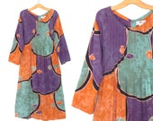 Vintage Batik Dress * 90s Festival Dress * Indonesian Dream Maxi Dress * Small