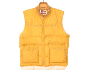 Vintage Down Vest Jacket * 80s Ski Vest * Puffy Vest * Men's Small