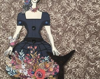 Menagerie Paper Doll - Ode to Jeanne Hebuterne Mermaid