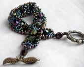Jewel tone Victorian Butterfly Wing Bracelet - Amethyst, Sapphire, Emerald