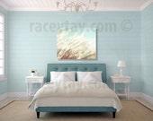 Blue Beach Canvas, Wall Art Canvas, Blue, Cream, Beach Grass, Pastel Beach Decor, Large Canvas Wall Art, 16x20 Canvas