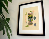 Tiki Totem limited edition screen print