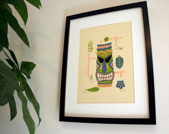 Tiki Totem Limited Edition Screen Print - Art Print