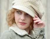 Reserved for Toni - Second Payment- Slouchy Newsboy Hat Cap in Light Khaki Corduroy
