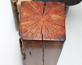 Reclaimed Timber Table Stool Seat Modern Rustic