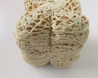 12 Vintage Irish Crochet Lace Insert Squares Rosettes