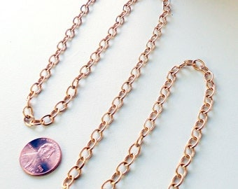 BULK FOOTAGE Clean Raw Brass Cable Chain Footage 5.34mm x 7.32mm 5x7 18 Gauge American Made Open Links Not Soldered B405X