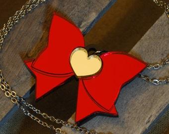 Handmade Acrylic Sailor Moon Fuku Bow Necklace