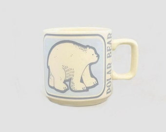 Vintage Polar Bear Mug Critters Series Crown Lynn New Zealand