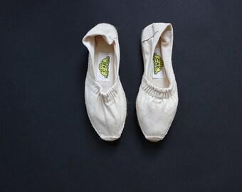 SALE Vintage Natural Canvas Espadrilles Sandals Size 6