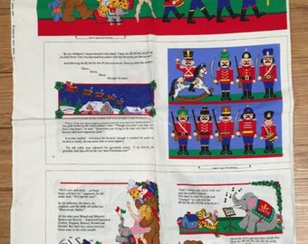 The Littlest Soldier Cloth Book Fabric Panel