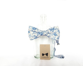 Elliot - Blue Floral Men's Pre-Tied Bow Tie or Self-Tied Bow Tie