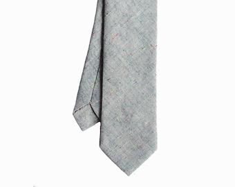 Ben - Gray Linen Men's Tie
