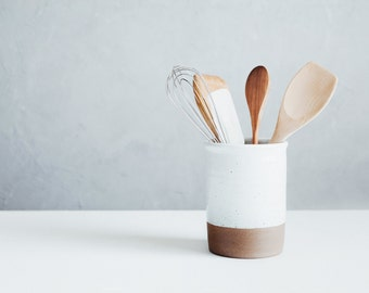 Utensil Crock - Spoon Crock - Wine Chiller - Ceramics - Pottery