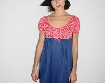 1960s hankie print mini dress
