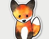 The Fox - Die Cut Vinyl Sticker weather resistant UV protected