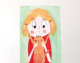 A4 Giclee Art Print - Furry Friends