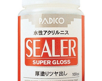 Padico Sealer Super Gloss for Clay, wood, paper, leather, metal, and cloth 100 ml From Japan 303216
