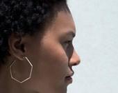 Large geometric hoop earrings. Statement earrings.