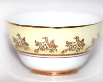 Hazel Sharon  Bone China Vintage Sugar Bowl Nut Candy Condiment Bowl
