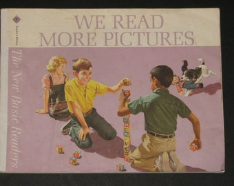1966 We Read More Pictures Dick and Jane pre-reading book - Teachers Edition - RARE