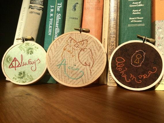 Harry Potter Spells Hand-embroidered Hoop Gift Set of 3
