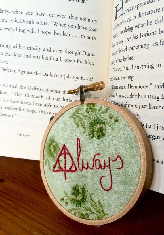 Mini Harry Potter Hand-embroidered Hoop- Always
