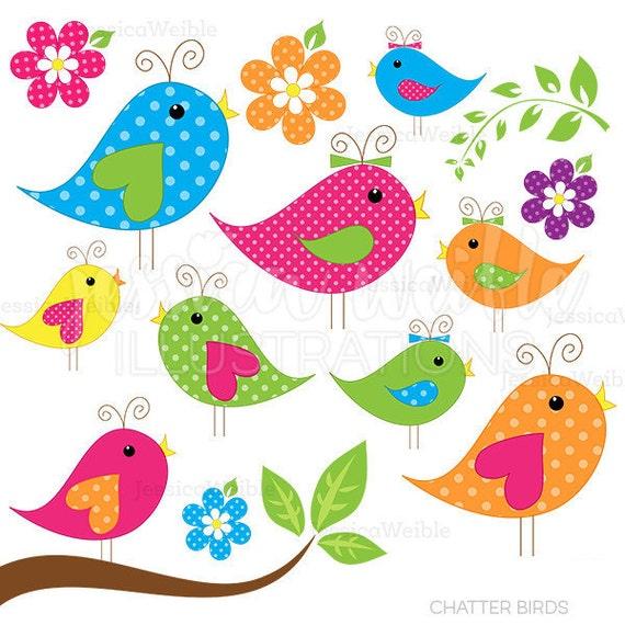 Chatter Birds Cute Clipart Bird Clip Art Bird Graphics
