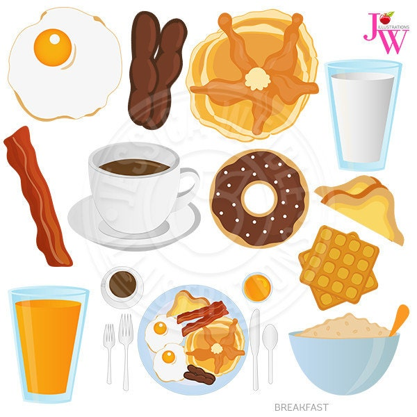 Breakfast Food Digital Clipart Breakfast Clip art Donut