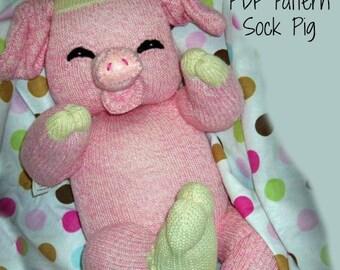 PDF PATTERN Sock Pig