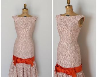Vintage 50s Dress - 1950s Lace Dress - The Robin